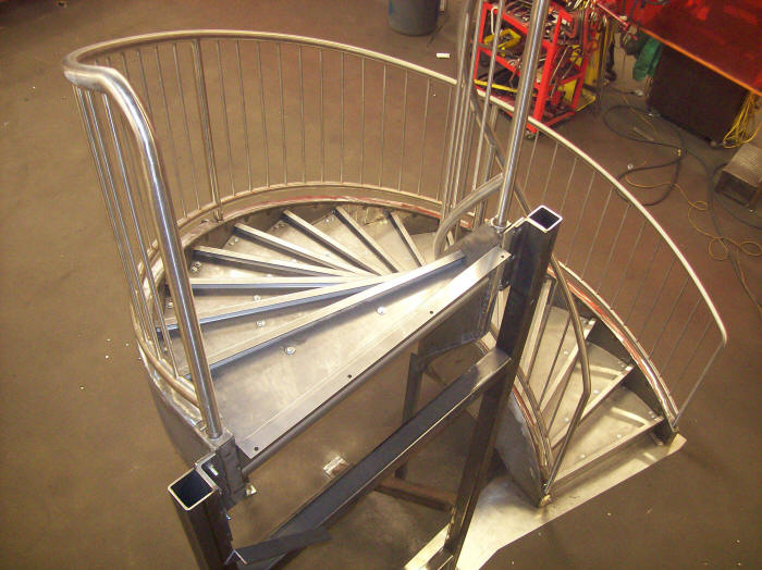 Stainless Steel Circular Stairs For Light Traffic Installation
