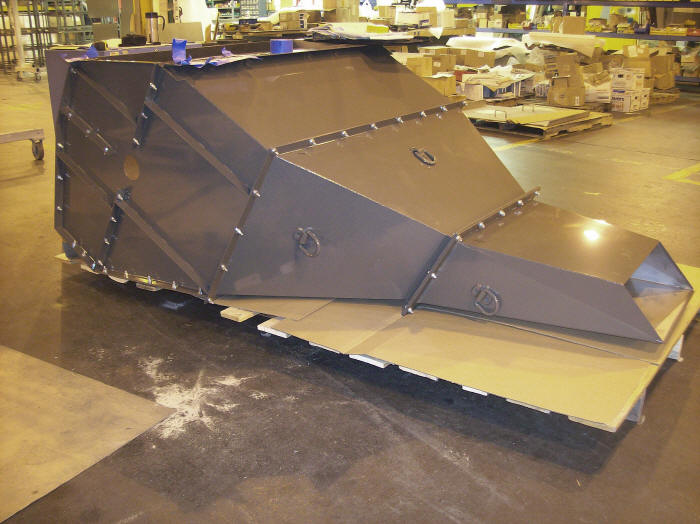 Sheet Metal Chute : Specialty welding fabricating chute and hopper projects